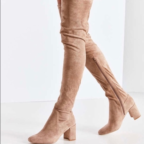 47225afb2cb Jeffrey Campbell Beige Over the Knee Suede Boots